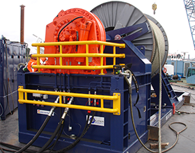 Tecnospirit 120 ton steel wire spooling machine